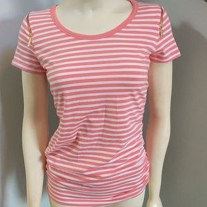 Michael Kors Womens Coral Striped top